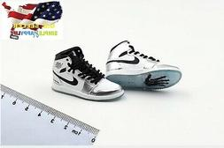 1/6 men Silver Sneakers shoes AJ HOLLOW basketball for hot t