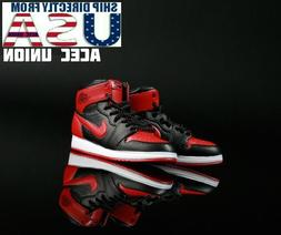 1/6 Men Sneakers Basketball Sport Shoes RED For Hot Toys Phi