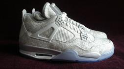 2015 Nike Air Jordan 4 Retro Laser White Chrome 705333-105 S