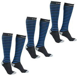 3 pairs athletic sports compression socks women