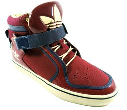 Adidas Adi-Rise Mens Shoes Mid Ankle Strap Leather Red White