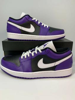 Air Jordan 1 Low Court Purple White Black 553558-501 Basketb