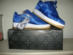 Nike AIR FORCE 1 LOW CLOT Sz 9 Snkrs Blue Silk Prm Game Roya