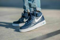 Nike Air Force 1 Mid '07 Basketball Shoes Navy Blue White CK