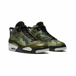 NIke Air Jordan Dub Zero Basketball Shoes Olive Camo 311046-