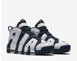 Nike Air More Uptempo Olympic Basketball Shoes White Navy 41