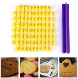 Alphabet Letter Number Biscuit Cookie Cutter Press Stamp Emb