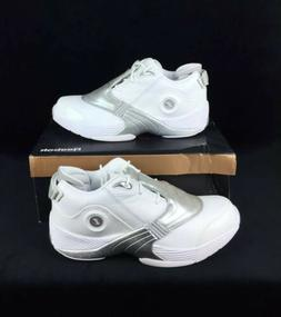 Reebok Answer 5 White Silver Allen Iverson Mens Basketball S