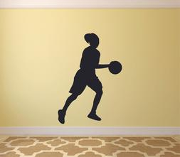 Athlete Sports Player Basketball Dribble Shoes Wall Sticker