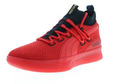 Puma Clyde Court Reform Meek 19346101 Mens Red Canvas Athlet