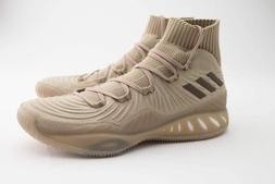 crazy explosive primeknit basketball shoes khaki brown