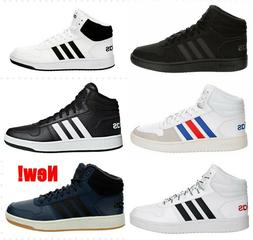 Adidas Hoops 2.0 Men's Mid High Top Basketball Sneakers Sh