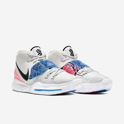 Nike Kyrie 6 Irving White Animal Print Multi Color Mens Bask