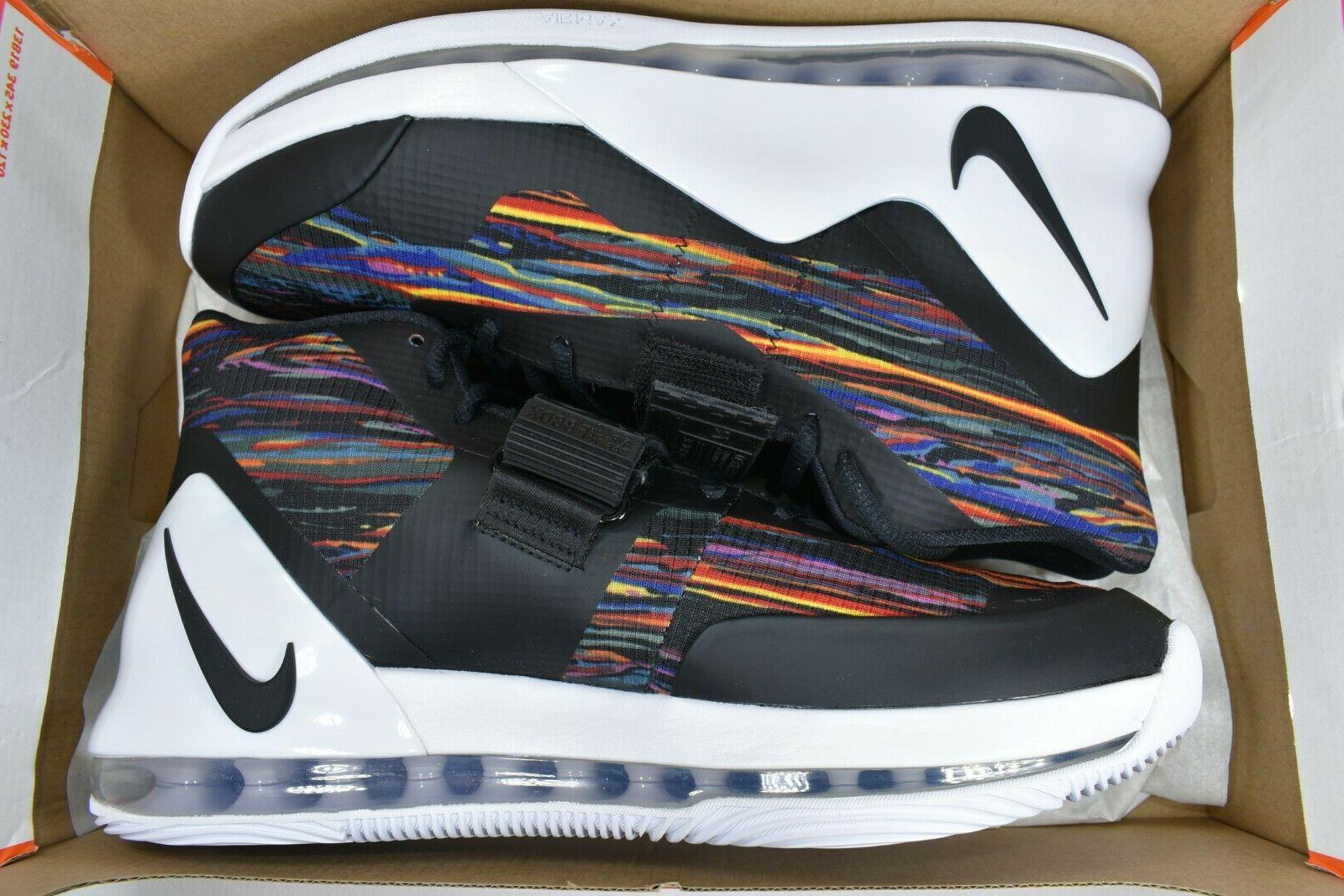 NIKE AIR MEN'S BASKETBALL SHOES AR0974-100 WHITE/BLACK-MULTI-COLOR
