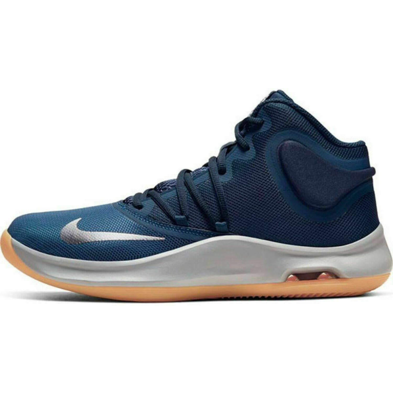 Nike Air Versitile Basketball Shoes Navy White Gum Men's NEW