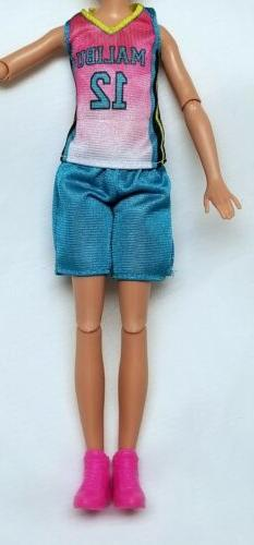 Barbie sister Stacie doll Clothes Basketball Uniform + Pink