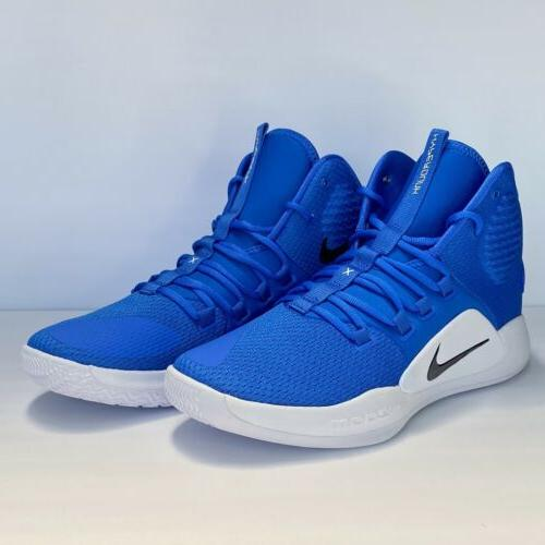 hyperdunk x high top basketball shoes blue