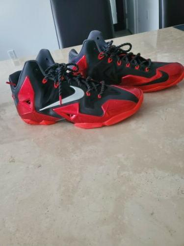 Nike Lebron XI 11 Miami Heat Red shoes WOW $100