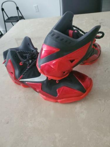 Nike XI Miami Size Red basketball shoes WOW