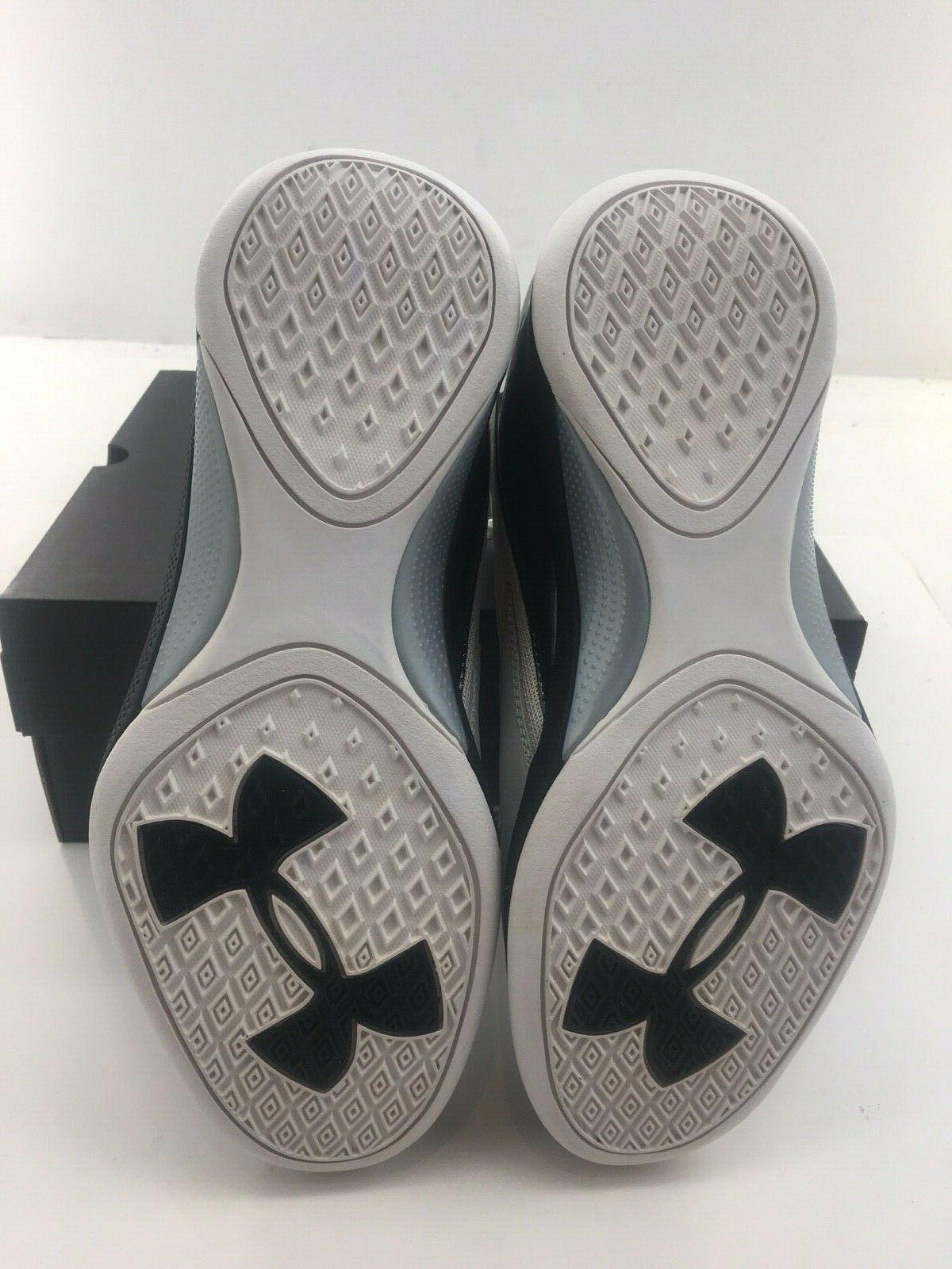 UNDER ARMOUR Basketball Shoes 1269281-101 Wht/Blk 7.5 12