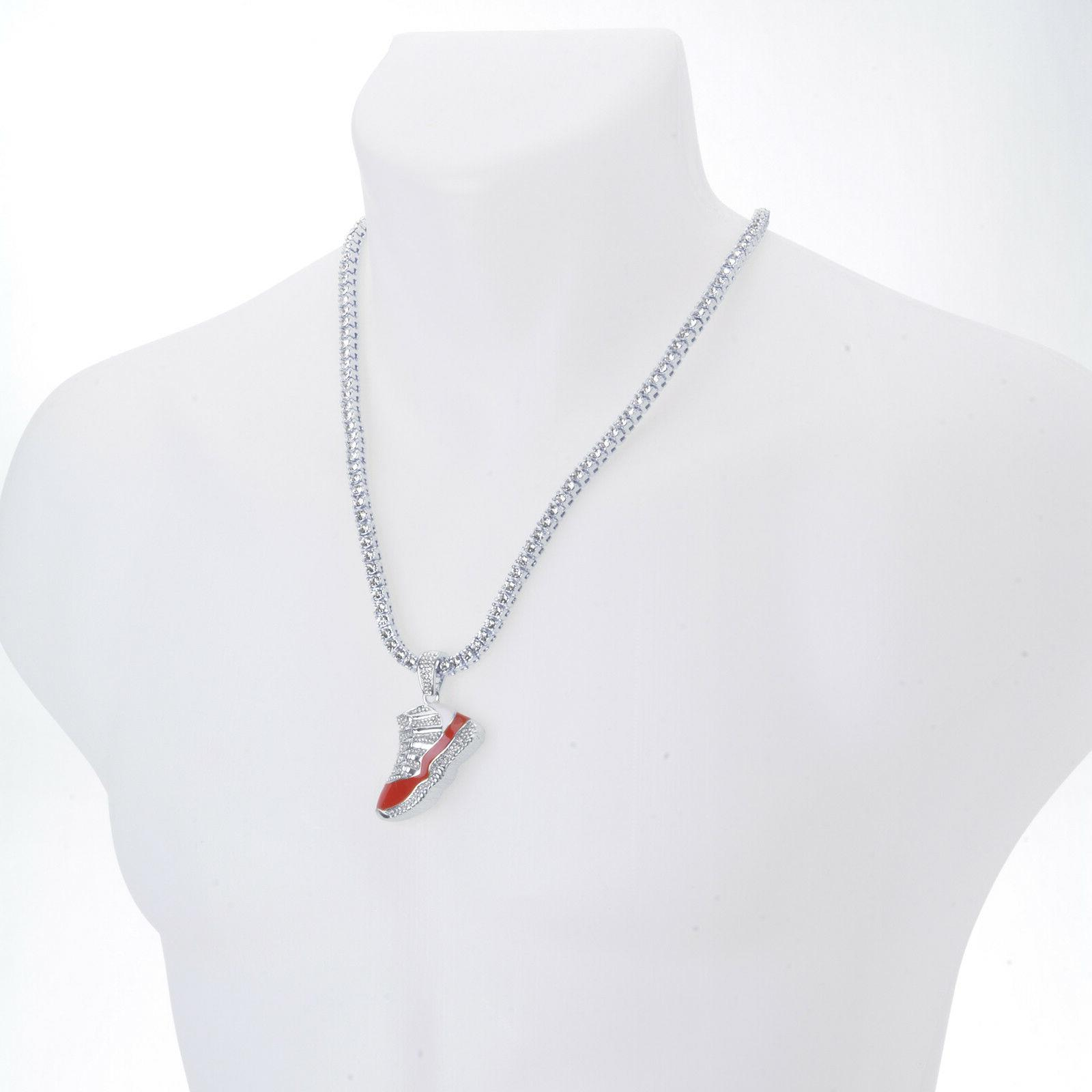 Silver Plated Pendant 24 Chain Necklace S