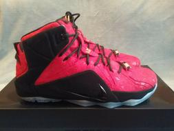 "Nike LeBron XII EXT ""Kings Cloak"" University Red 748861-600"