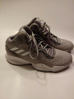 Adidas Mad Bounce Basketball Shoes Size 13 Mens Grey Silver