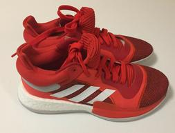 Adidas Marquee Boost Low Basketball Men's Shoes Red White Sz