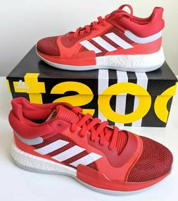 Adidas Marquee Boost Low Basketball Shoes Red White Men's si