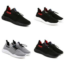 Men's Causual Lace Up Round Toe Breathable Shoes Athletic Ro