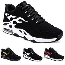 Mens Basketball Sneakers Shoes Mesh Breathable Lace up Flats