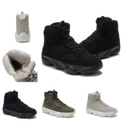 Mens Fashion High Top Basketball Sneakers Boots Shoes Fur In