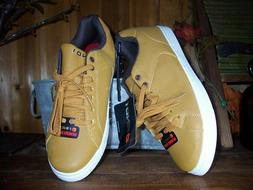 AND1 MENS LACE UP SHOES SIZE 7 TAN SPORTS BASKETBALL CASUAL