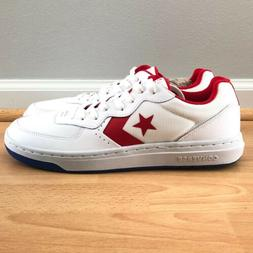 Converse Mens Rival Ox Wolf White/Enamel Red Comfort Cushion