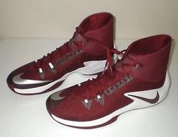 Mens NIKE Zoom Clear Out TB Basketball Shoes MAROON RED WHIT