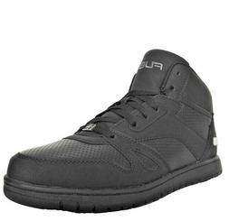 Fubu Midnight Men's Black Perforated Faux Leather Basketball