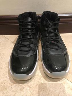 Retro Patent Leather Black Basketball Sneakers