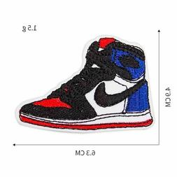 Sneaker Basketball Shoe Embroidered Patch For Clothing Iron