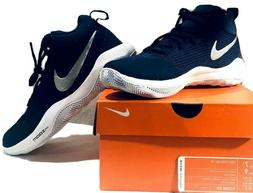 Nike Zoom Rev TB Basketball Shoes Navy Blue & Silver~Size Ma
